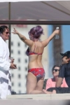 Red Floral Bikini Candids in Sydney
