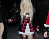 Avril Lavigne Leaving The Just Jared Halloween Party
